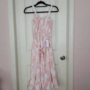 Goodnight Macaroon Leaf Midi Ruffle Dress NEW